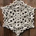 Rustic and Jeweled Winter Snowflake pattern