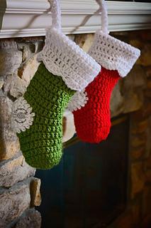 Crochet Christmas Stocking.Chunky Christmas Stocking Pattern By Phanessa Fong