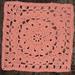 "Lion's Mane 12"" Square pattern"