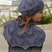 141-4 Midnight Boheme  hat and shoulder warmer pattern