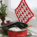 0-587 Pot holder with Christmas pattern pattern