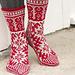 0-1335 Christmas Raffle Socks pattern