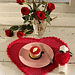 0-533 Valentine heart-shaped table mat pattern