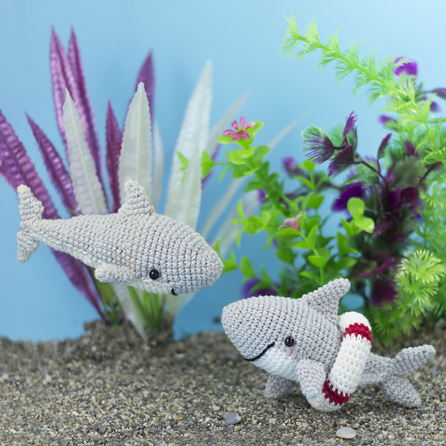 Baby Shark amigurumi [CROCHET FREE PATTERNS] #freecrochetpatterns ... | 640x640