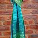 Colour gradient linen scarf pattern