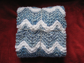Knit Ripple Baby Afghan