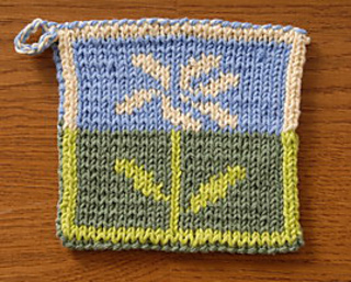 Ravelry: Wildflower double knitted potholder pattern by ...