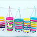 Colorful lanterns + Alpaca applique pattern