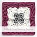 Ribbed Cross Granny Square pattern