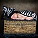 Striped Zebra Cuddle Critter Cape - Newborn Photography Prop pattern