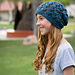 City Tweed Lattice Hat pattern