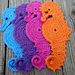Seahorse Coaster pattern
