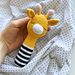 Rattle toy Giraffe pattern