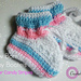 Sugar Candy Stripes Newborn Baby Booties pattern