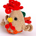 Funny Rooster pattern