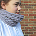 Corn Rows Cabled Cowl pattern