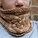 Criss Cross Cabled Cowl pattern