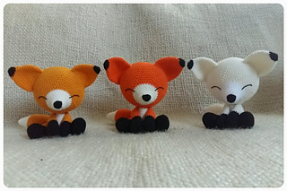 Free Amigurumi Patterns for a Rabbit, Bear, Fox, Wolf & Monkey ... | 213x320