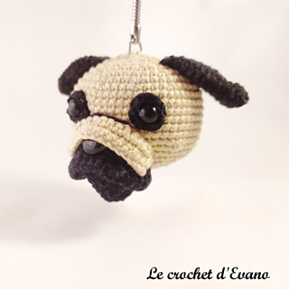 Crochet pug keychain Amigurumi pug plush Miniature dog | Etsy | 320x320