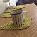 Textured Leaf Mug Rug pattern