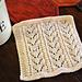 Baby Fern Stitch Dishcloth pattern