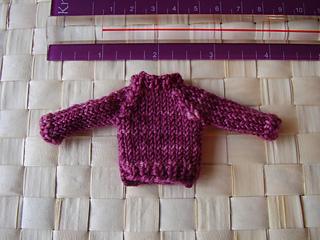 Raspberry sweater