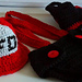 Fireman Hat, Boots, Suspenders and Diaper Cover pattern