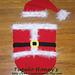 Santa Cocoon and Hat Set Pattern pattern