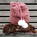 Slouchy hat with pom poms pattern
