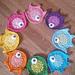 Rainbow fish coaster,applique pattern