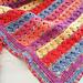 Rows of Posies Blanket pattern