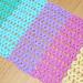 Rainbow Splash Bath Mat pattern