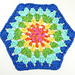 Strawflower Hexagon Dishcloth pattern