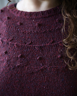 Test knit by awoodennest in Brooklyn Tweed Loft Colorway: homemade jam