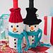 Wine-derful Time Snowman Bottle Cozies pattern