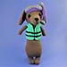 Teddy the Snorkeling Sausage Dog pattern
