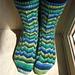 Irregular Stripes Sock pattern