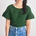 Ruffle Sleeve Sweater Top pattern