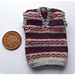 1:12th scale Mans striped Fairisle slipover pattern