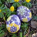 Collage Easter eggs pattern