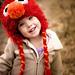 Fuzzy Elmo earflap hat pattern