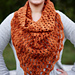 Elemental Triangle Cowl pattern