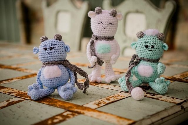 Amigurumi Monsters Free Crochet Patterns | 427x640