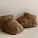 Moss Stitch Baby Boots pattern