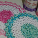 V stitch lace dishcloth pattern