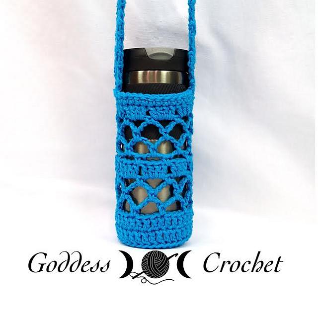 Crochet Water Bottle Carrier water bottle sling.