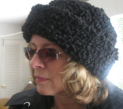 Curly lamb hat