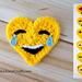 Tears of Joy Emoji Valentines pattern