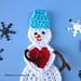 Snowman in Love pattern