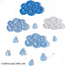 Clouds and Raindrops Applique pattern